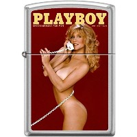Zippo/ジッポー/オイルライター/PLAYBOY/喫煙具/Zippo Playboy July 1982 Cover Satin Chrome Windproof Lighter NEW RARE