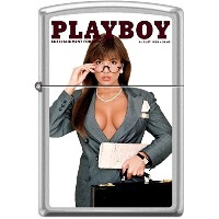 Zippo/ジッポー/オイルライター/PLAYBOY/喫煙具/ Zippo Playboy August 1989 Cover Satin Chrome Windproof Lighter NEW...