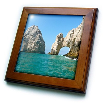 AlbomデザインSeascapes–穴in the Rock Cabo San Lucasメキシコ–フレーム付きタイル 8 by 8-Inch ft_22787_1