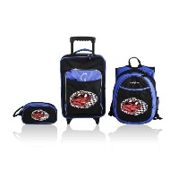 Obersee Little Kids Luggage Set, Racecar by Obersee