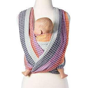 Woven Wrap Baby Carrier for Infants and Toddlers (Rainbow Honeycomb) by Hip Baby Wrap