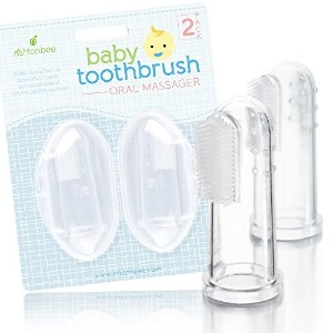 Baby Toothbrush Oral Massager - Perfect During Teething, Gentle Infant Care Kit by Ashtonbee by Ashtonbee