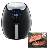 GoWISE USA GW22621 4th Generation Electric Air Fryer w/ Touch Screen Technology, Button Guard &...