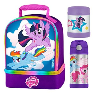 Thermos Funtainer My Little PonyランチバッグキットW / 12オンスボトル、10oz Food Jar