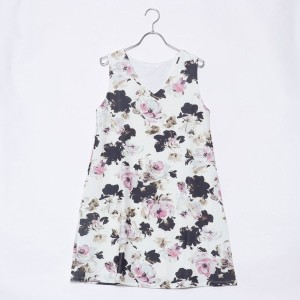 【SALE 70%OFF】ルーミィーズ  Roomy's OUTLET 大花柄AラインOP (ピンク)