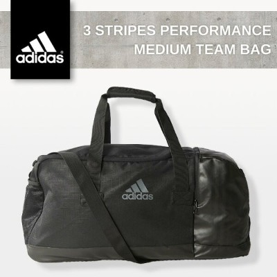 アディダス スポーツバッグ ブラック adidas 3 STRIPES PERFORMANCE MEDIUM TEAM BAG BLACK AJ9993