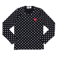 PLAY COMME des GARCONS(プレイ コムデギャルソン) LADY'S DOT RED HEART L/S TEE (長袖Tシャツ) BLACK 202-000939-141x【新品】