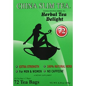China Slim Tea Super Ginseng Plus Extra Strength For Men and Women 72 Tea Bags by China Slim