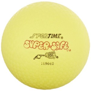 Sportime Super-Safe Foamed Vinyl Playground Ball, 7 inches, Yellow by Sportime