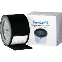 revitalair ahep-8110cflt2 True HEPAフィルタPlusプレフィルタwith Activated Carbon、サイズA、2 - Pack
