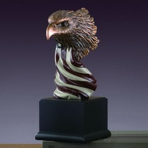 American Eagleバストwith flag Statue – Figurine
