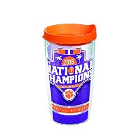 Tervis 1254670Collegiate Tumbler with Wrap、16オンス、クリア