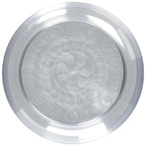 Fineline Settings 20-Piece Savvi Serve Plastic Plate, 6-Inch, Clear by Fineline settings