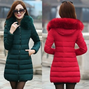 Winter Womens Warm Hooded Down Jacket Padded Parkas