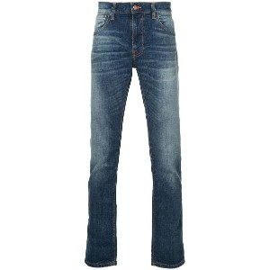 Nudie Jeans Co ウォッシュド スリムジーンズ - ブルー