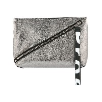 Proenza Schouler Pebbled Leather Zip Pouch - グレー