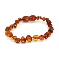 Momma Goose Teething Necklace, Cognac by Momma Goose
