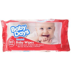 Royal Scented Baby Wipes Refill, Package of 80 by Royal
