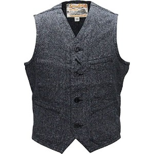 Sugar Cane(シュガーケーン)COTTON COVERT WORK VEST SC12795-119 BLACK 42(XL)