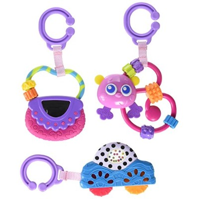 Playgro Babies Go with Me Rattle Pack for Girls by Playgro