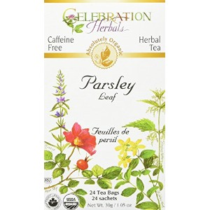 Celebration Herbals, Organic, Herbal Tea, Parsley Leaf, Caffeine Free, 24 Tea Bags, 1.05 oz (30 g) ...