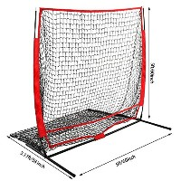 5x 5ft野球ソフトボールPractice Net with BowフレームStrike Zoneターゲット(米国Stock )