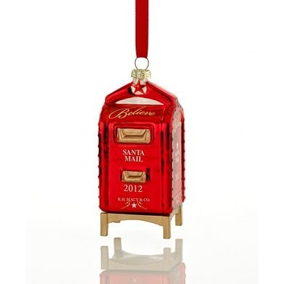 Macy's Yes Virginia 2012 Glass Mailbox Christmas Ornament by Macy's [並行輸入品]
