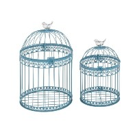 Benzara魅力的なand LovelyアクリルBird Cages、2のセット