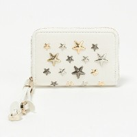 ジミーチュウ JIMMY CHOO コインケース NELLIE LTR 【NELLIE】 WHITE/METALLIC MIX 【rms】