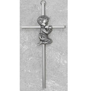 Silver Boy Wall Cross Baby Infant Christening Baptism Shower Wall Decor Nursery Great Gift by McVan...
