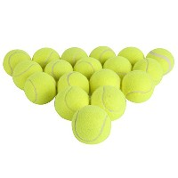 yayoshow Pressureless Tennis Balls – Aセットof 18 Balls withメッシュキャリーバッグGreatレッスン、Practice