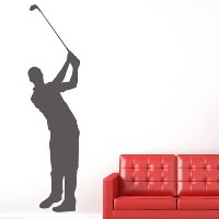 Golf Swing Wall Sticker Player Tourament Wall Decal Sports Bedroom Home DecorゴルフスイングウォールステッカーのプレーヤーT...
