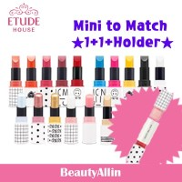 Etude House - ★PONY 1+1+Holder★ Mini Two Match Lip Color + Concealer / Lip Balm / Color Mix + Holder
