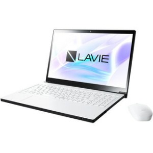 NEC Office搭載15.6型ノートPC (Core i7/256GB SSD/BD) LAVIE Smart NEXT PC-SN187AEAC-2 グレイスホワイト