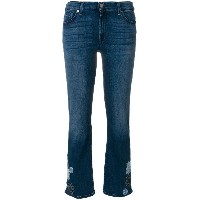 7 For All Mankind アップリケ クロップドジーンズ - ブルー