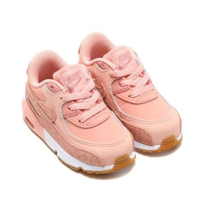 NIKE AIR MAX 90 SE LTR (TD)(ナイキ エア マックス 90 SE レザー TD)(CORAL STARDUST/RUST PINK-WHITE)【キッズ】18SP-I