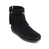 [ミネトンカ] MINNETONKA ブーツ HI TOP BACK ZIP BOOT(305) BLACK US8