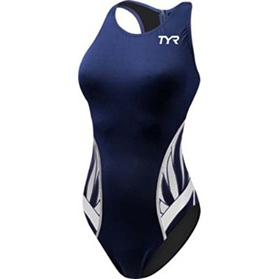 TYR 408 wwpbd6 a40 Women 's Phoenix SP Destroyer Water Polo Suit、ネイビー/ホワイト、サイズ40