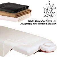 Royal Massage 100% Microfiber Sheet Set - Black