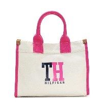 トミー ヒルフィガー TOMMY HILFIGER / MEDIUM TOTE TH HILFIGER GRAPHIC トートバッグ #6929741 127 NATURAL/NAVY/PETUNIA