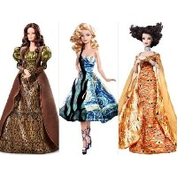 Barbie(バービー) Collector Museum Collector Doll set of Van Gogh, Klimt, and Da Vinci. ドール 人形