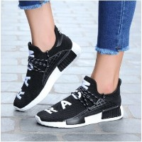 Stylish Letter Print Lace Up Male Breathable Sneakers