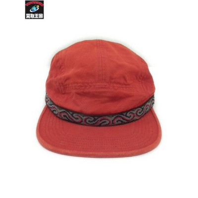17AW Supreme Wildlife Taping Camp Cap 赤【中古】[値下]