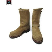 Chippewa 11 ENGINEER BOOTS SAND SUEDE (9E)【中古】