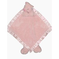 Ellis Baby Plush Blankie -Super Soft Baby Security Blanket 15x15 Pink Pig Lovie Banky Blankie Toy...