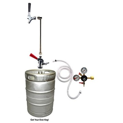 Rod & Faucet CO2 System w/out CO2 Tank by KegWorks
