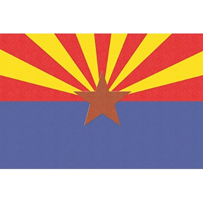Arizona State Flag – 活版 12 x 18 Art Print LANT-51099-12x18