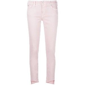 7 For All Mankind クロップドジーンズ - ピンク&パープル