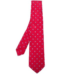 Kiton woven patterned tie - レッド