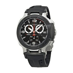 ティソ Tissot 腕時計 メンズ 時計 Tissot Men's T0484172705700 T-Race Black Chronograph Dial Watch